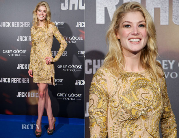 Rosamund Pike In Emilio Pucci - 'Jack Reacher' Madrid Premiere
