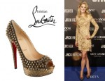 Rosamund Pike's Christian Louboutin Lady Peep Spikes