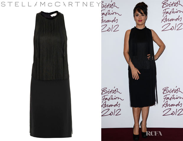 Salma Hayek's Stella McCartney Maurice Fringed Dress