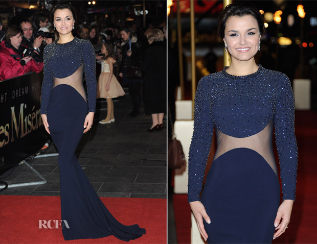Samantha Barks In Stella McCartney — 'Les Miserables' London Premiere