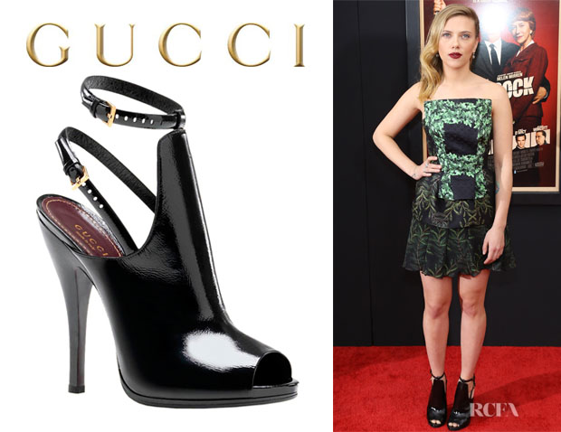 Scarlett Johansson's Gucci Jane Open Toe Booties