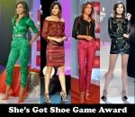 She's Got Shoe Game Award – Nieves Alvarez