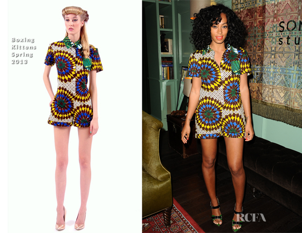 Solange Knowles In Boxing Kittens - Listening Party For Solange Knowles New Album 'True'