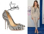 Sophia Bush's Christian Louboutin Lipsinka Pin Heeled Python Pumps