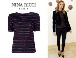 Stacy Keibler's Nina Ricci Striped Wool Top