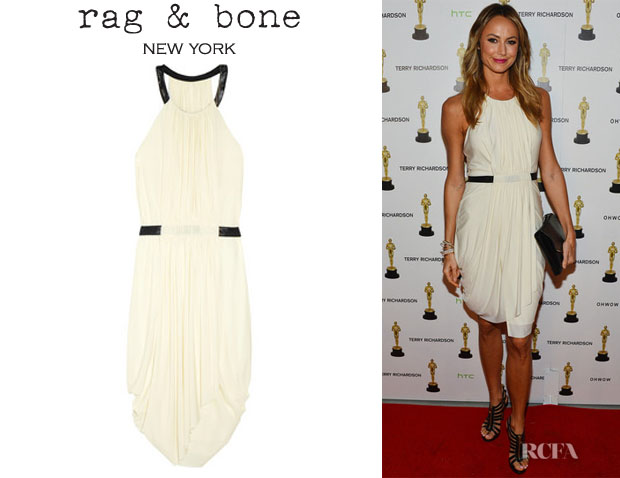 Stacy Keibler's Rag & Bone Rowan Draped Dress