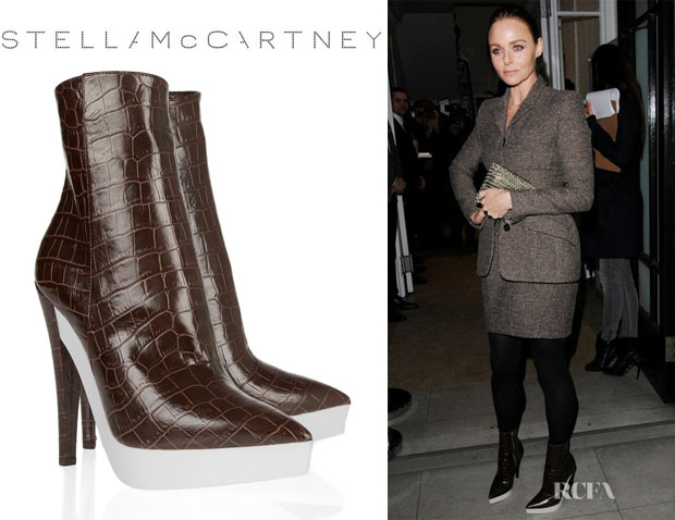 Stella McCartney's Stella McCartney Croc-Effect Ankle Boots