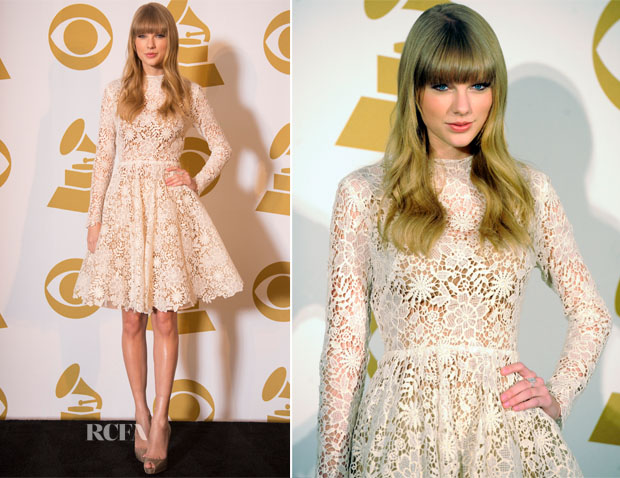 Taylor Swift In Maria Lucia Hohan – Grammy Nominations Concert Live