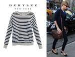 Taylor Swift's Demylee Jonathon Stripe Cashmere Sweater