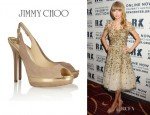 Taylor Swift's Jimmy Choo Frosting Suede Slingbacks