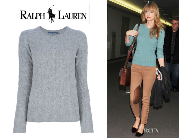 Taylor Swift's Ralph Lauren Cable Knit Sweater - Red Carpet ...