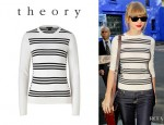 Taylor Swift's Theory Tommie Stripe Sweater
