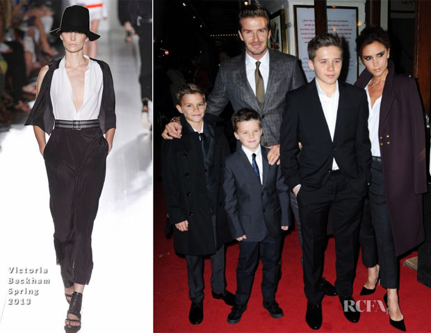 The Beckhams In Burberry & Victoria Beckham - 'Viva Forever' Press Night