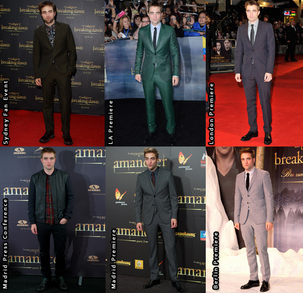 Which Was Your Favourite Robert Pattinson 'The Twilight Saga Breaking Dawn – Part 2' Promotional Tour Look