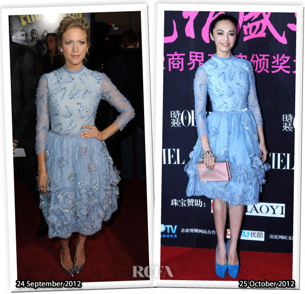 Who Wore Georges Hobeika Couture Better Brittany Snow or Yao Chen