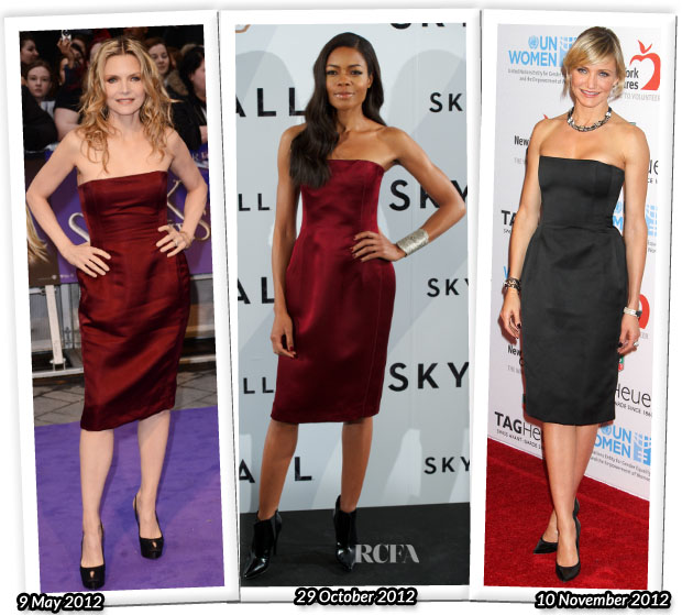 Who Wore Lanvin Better Michelle Pfeiffer, Naomie Harris and Cameron Diaz