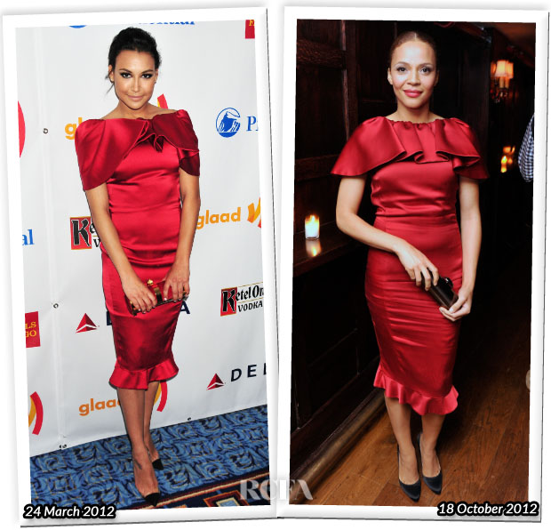 Who Wore Moschino Better Naya Rivera or Carmen Ejogo
