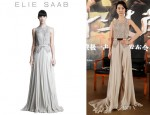 Xingtong Yao's Elie Saab Beaded Bodice Gown