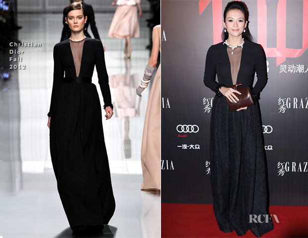 Zhang Ziyi In Christian Dior - Grazia's 100th Issue Party