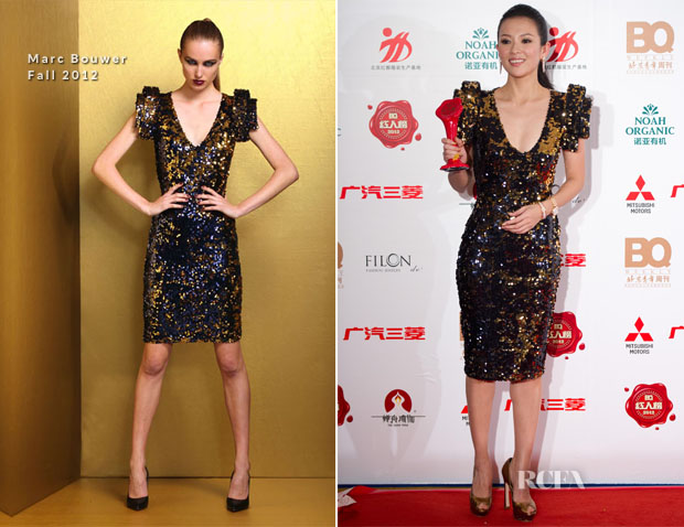 Zhang Ziyi In Marc Bouwer - BQ Award 2012