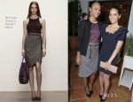 Zoe Saldana In Bottega Veneta - Marie Claire's Hollywood Dinner