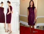 Zoe Saldana In Giambattista Valli - 2012 Children's Defense Fund Beat The Odds Awards
