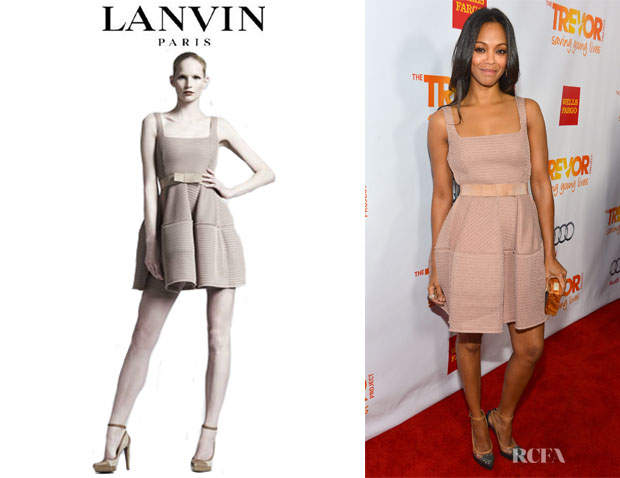 Zoe Saldana's Lanvin Mesh Dress