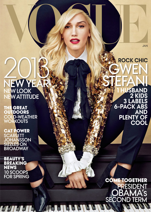 Gwen Stefani for American Vogue January 2013