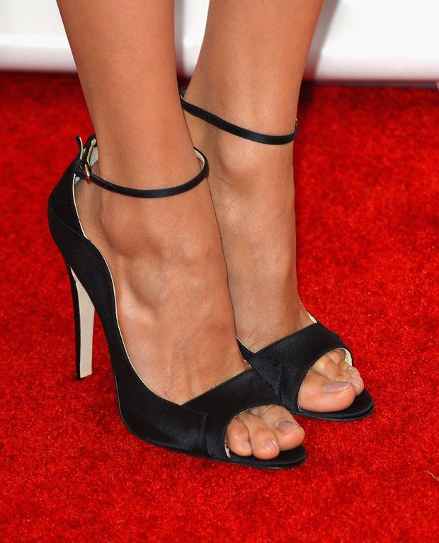 Nina Dobrev's Brian Atwood 'Evie' sandals