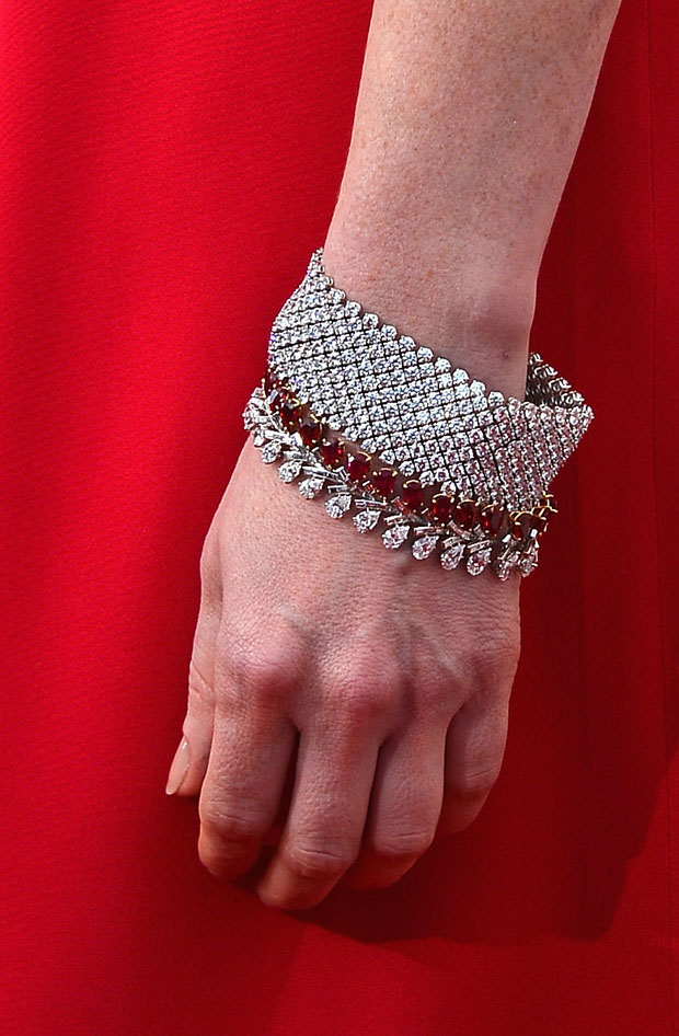 Jessica Chastain's Harry Winston jewels
