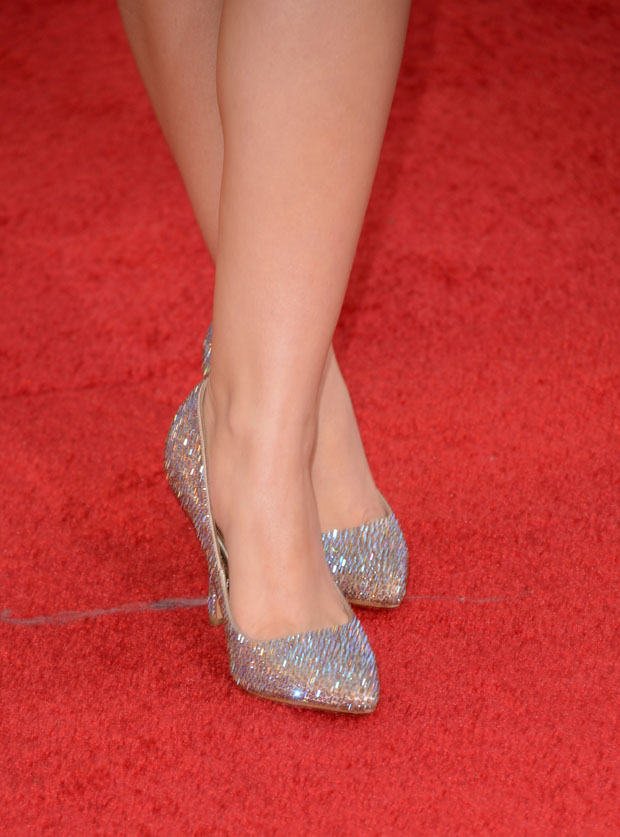 Ariel Winter's Benjamin Adams London champagne topaz crystal 'Chicago' pumps