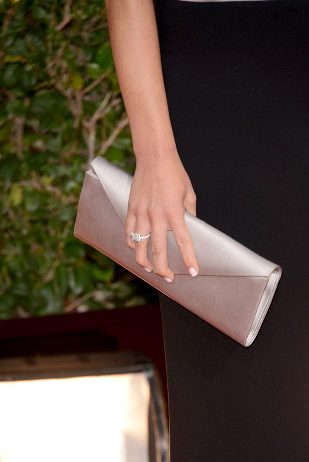 Olivia Munn's Armani clutch