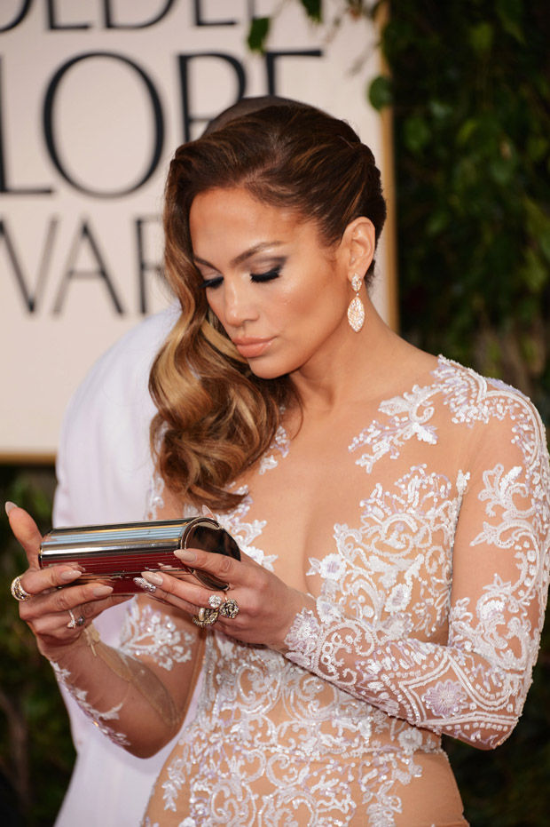 Jennifer Lopez 2013 Golden Globe Awards Red Carpet