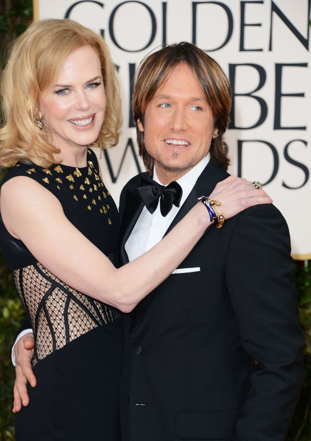 Nicole Kidman in Alexander McQueen and Keith Urban in Prada