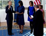 Michelle Obama In Reed Krakoff - President's Official Swearing-In Ceremony
