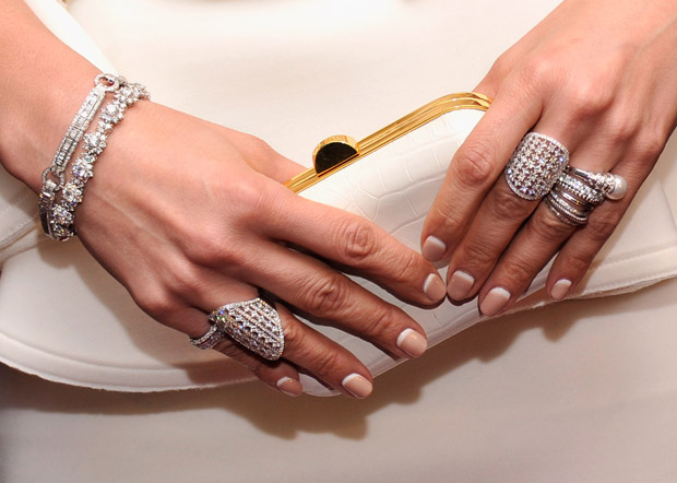 Jennifer Lopez' jewels and clutch