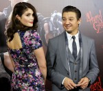 Gemma Arterton in Erdem  and Jeremy Renner in Vivienne Westwood Man
