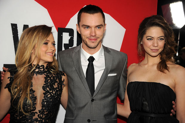 Teresa Palmer in Philip Armstrong, Nicholas Hoult in Balenciaga and Analeigh Tipton in Barbara Bui