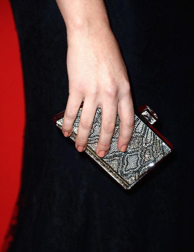 Teresa Palmer's Judith Leiber clutch