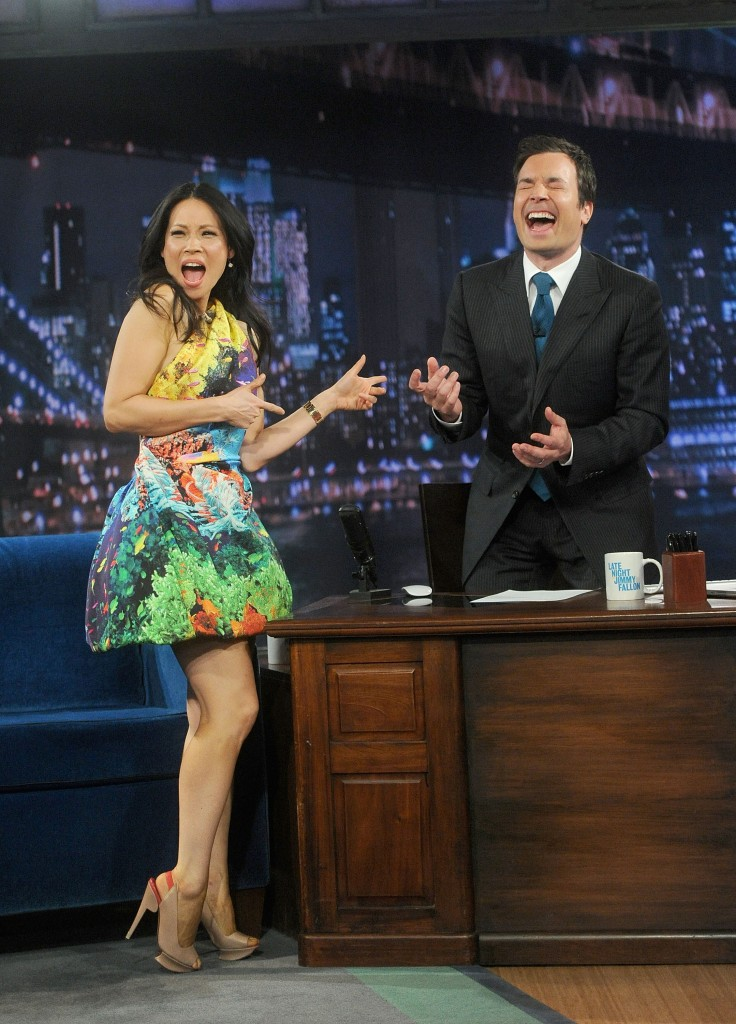 Lucy Liu in Mary Katrantzou