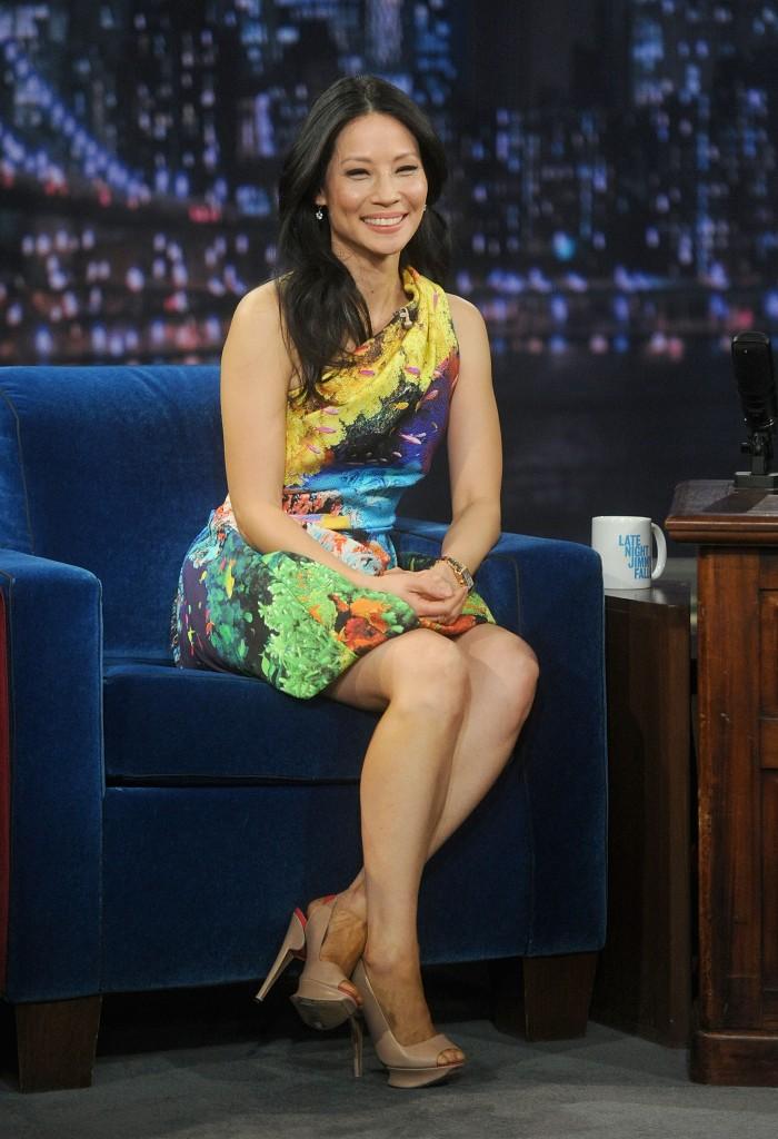 Lucy Liu in Mary Katrantzou