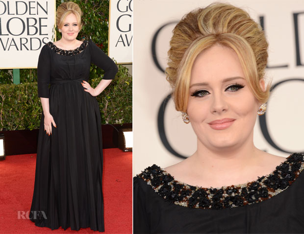 Adele In Burberry - 2013 Golden Globes