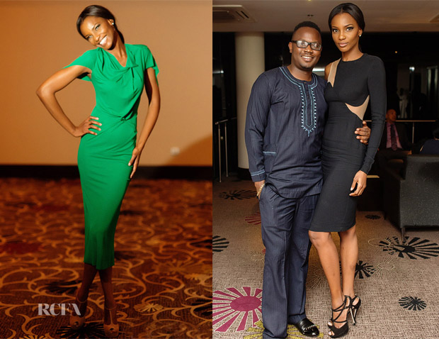 Agbani Darego In Roland Mouret & Stella McCartney - 30th Birthday Party