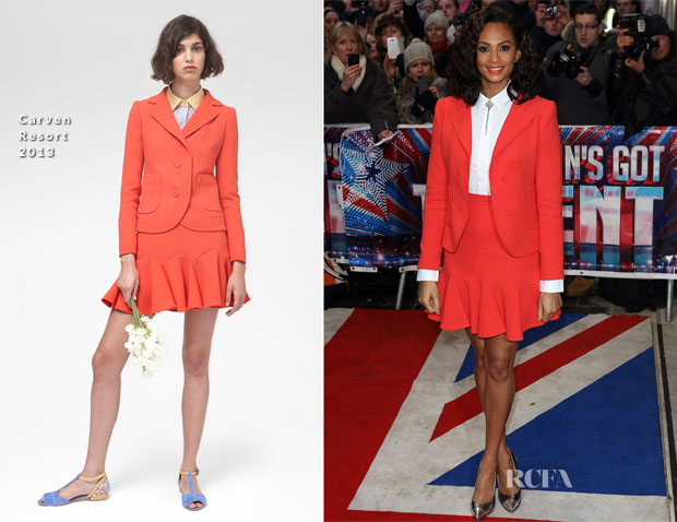 Alesha Dixon In Carven - 'Britain's Got Talent' London Auditions