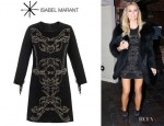 Alex Curran Gerrard's Isabel Marant Oriane Studded Suede Dress