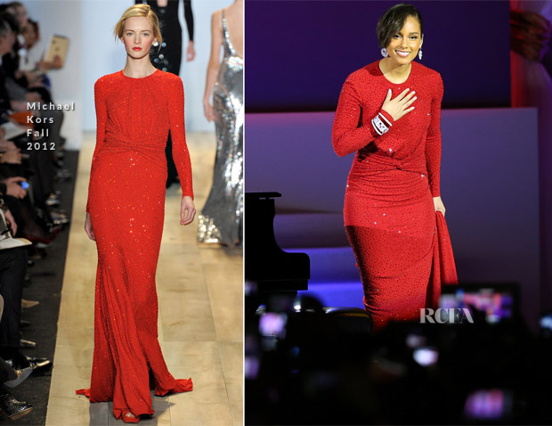Alicia Keys In Michael Kors -  Inaugural Ball