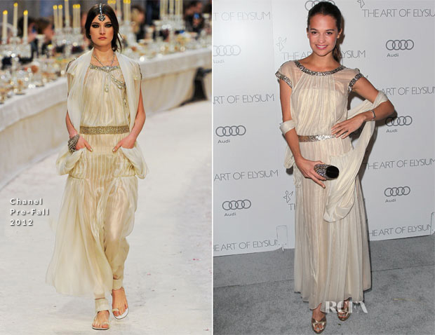 Alicia Vikander In Chanel Pre Fall - Art Of Elysium 'Heaven' Gala