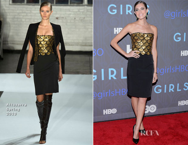 Allison Williams In Altuzarra - 'Girls' Season 2 Premiere