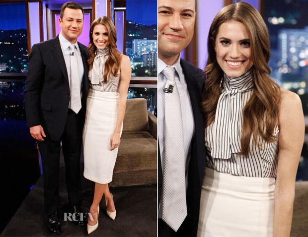 Allison Williams In L'Wren Scott - Jimmy Kimmel Live