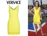 Amanda Holden's Versace Diamond Cut Out Shift Dress